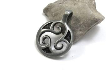Celtic Triskele Pendant, Triskelion Pendant, Celtic Jewelry