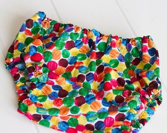 Rainbow Polka Dot Diaper Cover and Photography Prop