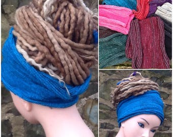 Dreadlock Headband Wide Dread Wrap
