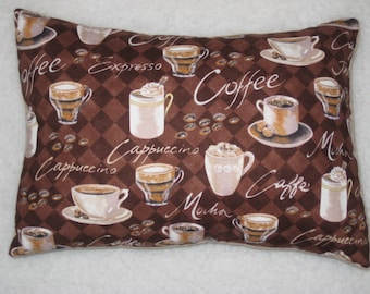 Coffee Pillow - Accent Pillow - Mini Pillow - Cappuccino - Coffee Lover - READY to SHIP