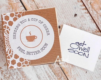 Tea Gift Box, GET WELL, Organic, Care Package, Tea Sampler, Gift for Her, Gift for Him, Under 15 Dollars, Caring, Thoughtful Gift, Hot Tea