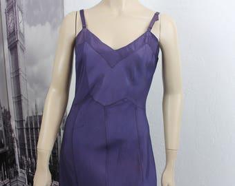 Vintage Full Slip 1940s Dark Blue Size 38 Bust