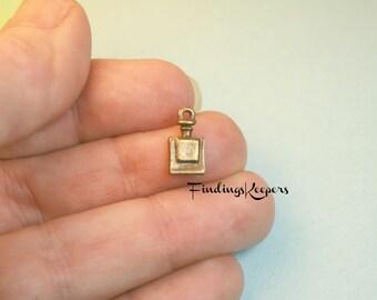 Bottle Charm, 16 Perfume Bottle Charms, Antique Bronze Tone 13 x 7 mm - bz397