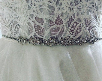Bridal Belt ~Vintage rhinestone, boho wedding, bridal headband, wedding headband, rhinestone bridal headband, bridal headpiece