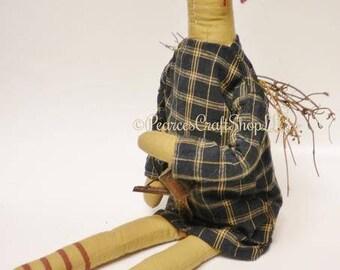 Primitive Garden Angel Doll, Spring Decor, Angel Dolls, Country Farmhouse Decor