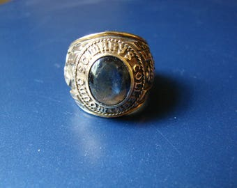 Mens Ring Gold 10K Class Ring Mount St Marys College Ring Heavy Gold Ring 28.3 grams