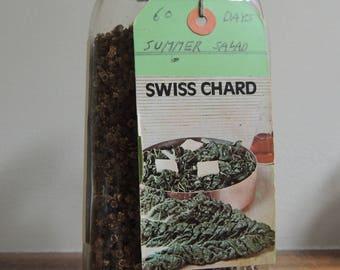 Swiss Chard 'Summer Salad' Seed, Non-GMO Seed, Heirloom Fall Garden Seeds