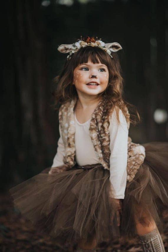 fawn headband fawn ears fawn costume deer headband deer. Black Bedroom Furniture Sets. Home Design Ideas