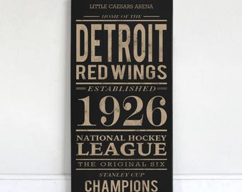 Detroit Red Wings - Wood Sign
