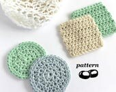 Crochet Face Scrubbies / Crochet Scrubbie Pattern / Crochet Laundry Bag Pattern / Makeup Remover Pads
