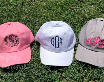 Monogram Toddler Hat - Personalized Baseball Cap for Children - Birthday Gift - Youth - Kids
