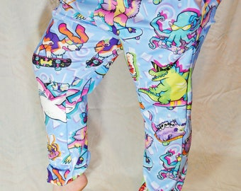 90s Critters Pajama Pants! Stretchy & Comfy Jogger Style Pants with Drawstring and Pockets