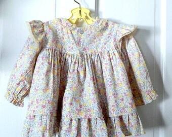 Vintage Polly Flinders Dress Infant Dress Baby Girl Dress Retro Baby Polly Flinders.