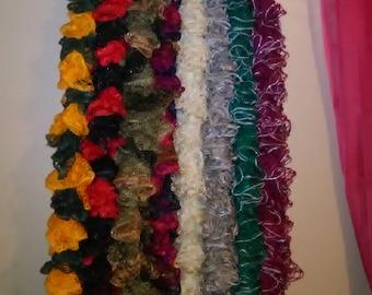 crochet ruffle scarves