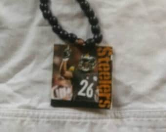 Long  wooden Steelers necklace