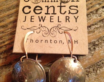 Steel Penny Earrings