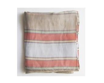 vintage silk Liz Claiborne stripes scarf