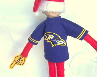 Baltimore Raven's T-shirt for Elf Doll or Ken Doll