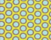 Amy Butler Laurel Dots  - 2/3 yard Soul Blossoms Laurel Dots Cilantro - Green Blue Polka Dots  - Rowan - Westminster Fibers - Rare Find!