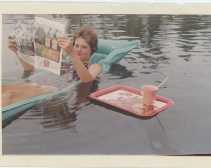 Vintage Snapshot Photo: Floating [82652]
