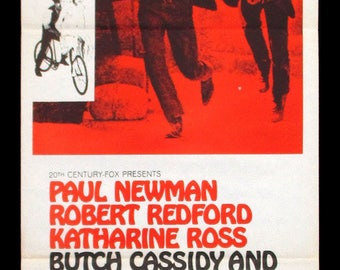 BUTCH CASSIDY And The SUNDANCE Kid original movie poster Paul Newman Robert Redford