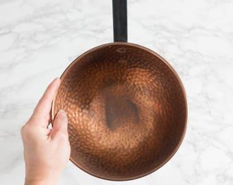Vintage Hammered Copper Serving Spoon Ladle