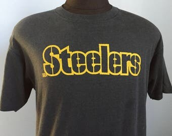 80s Vintage Pittsburgh Steelers NFL football T-Shirt - LARGE