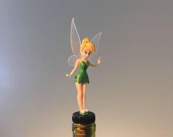 Tinkerbell Wine Stopper, Tinker Bell Gift, Fairy Wine Gift, Peter Pan Wine Gift, Wine Lover, Fairy Wine Stopper, Fairy Wine Gift,