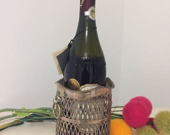 SILVER Plated CHAMPAGNE URN, Champagne Bucket, Champagne Holder, Lion, E P Over Copper at Ageless Alchemy