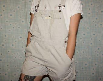 90s Calvin Klein Tan Overall Shorts
