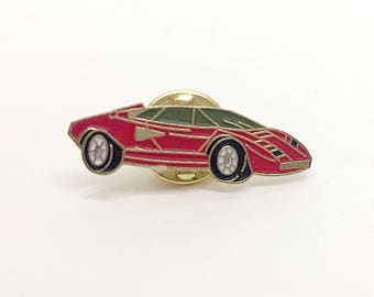 True Vintage Enamel Pin LAMBORGHINI COUNTACH from Venice, Italy