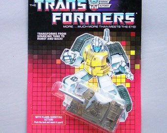 Vintage G1 Transformers Guzzle MOC Mint on Card Never Opened C85 - Christmas in July Sale