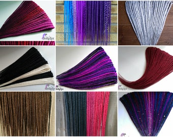 CUSTOM Synthetic Smooth dreads - Solid colours - ** DEPOSIT ONLY ** 50 double ended synth dreadlocks de