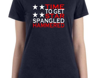Time to get star spangled hammered, fourth of july, fourth of july shirt, Independence Day, summer shirt, bbq, American shirt