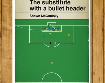Newport County winning goal v Leeds United - Shawn McCoulsky Header - FA Cup Third Round - Football Gift (Various Sizes)