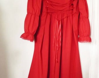 dress little red cotton sleeves long.