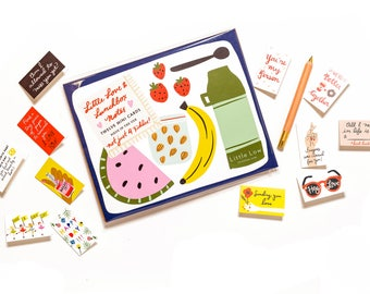 Little Love & Lunchbox Notes - Set of 12 mini cards for kids and adults