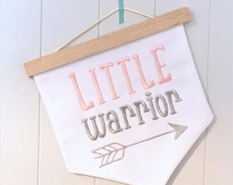Little Warrior nursery wall hanging