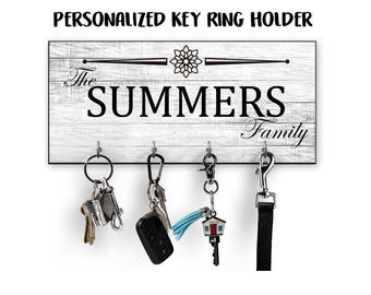 Personalized Key Holder, Key Hanger, New Home Gift, Wedding Gift, Housewarming Gift