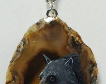 Black Bear Agate Pendant