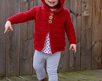 Danielle Child Cardigan Crochet Pattern pdf