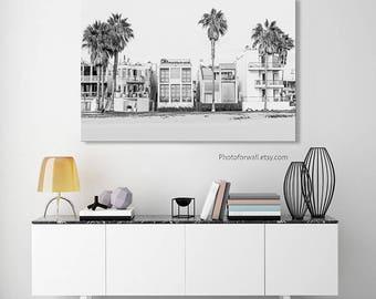 Venice beach black and white photography, California Decor, Luxury Wall Decor, Business Decor/personalized Office Wall Art/beach house decor