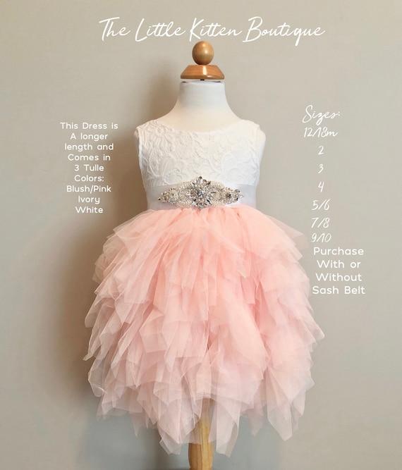 Flower Girl Dress, Ivory Flower Girl Dress, Pink Flower Girl Dress, Lace Flower Girl Dress, Tulle Flower Girl Dress Rustic Flower Girl Dress