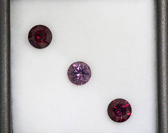 Lovely Rhodolite Garnet Gemstone Set from Tanzania 2.14 tcw.
