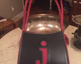 """Monogrammed """"j"""" handbag"""