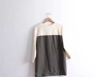 Minimal Colorblocked Mini Shift Dress
