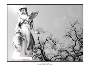 Gray Angel's Day, St. Louis Cemetery, New Orleans Fine Art Print