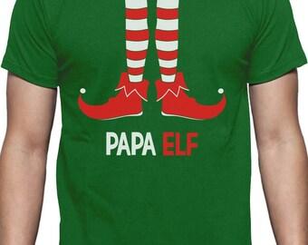 Papa Elf - Funny Christmas Gift for Dad / Grandpa T-Shirt