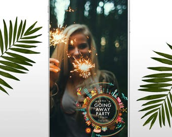 Going Away Party Snapchat Geofilter, Moving Away Party, Farewell Party Accessories,  Custom Geofilter Moving Party