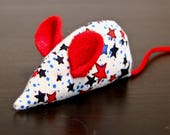 Independence Stars Cat Toy: Red Ears, Red Tail, Organic Catnip, Mouse Toy
